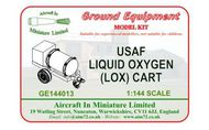 AIM - Ground Equipment  1/144 USAF Liquid Oxygen (LOX) Cart.   Http://www.aim72.co.uk/page54.html GE144013