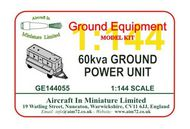 AIM - Ground Equipment  1/144 60 kva Ground Power Unit (GPU). http://www.aim72.co.uk/page128.html GE144055