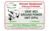 AIM - Ground Equipment  1/72 MD3 USAF3 round Power Unit. http://www.aim72.co.uk/page81.html - Pre-Order Item GE72011