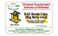 AIM - Ground Equipment  1/72 Boeing B-52 Bomb Clips, Big Belly mod (set of 3 bomb clips - one aircraft set).go to the Aircraft In Miniature web page. http://www.aim72.co.uk/page173 GE72028