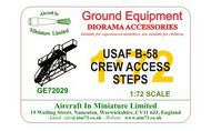 AIM - Ground Equipment  1/72 Convair B-58 Hustler Crew Access Steps (designed to be used with Monogram and Revell kits). go to the Aircraft In Miniature web page http://www.aim72.co.uk/page187.html GE72029