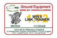 AIM - Ground Equipment  1/72 WWII Link Trainer. go to the Aircraft In Miniature web page http://www.aim72.co.uk/pageTBA.html GE72034