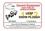 AIM - Ground Equipment  1/72 USAF Snow Plough GE72036