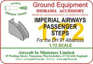 AIM - Ground Equipment  1/72 Imperial Airways Passenger Steps - for the de Havilland DH 91 Albatross (designed to be used with Rug Rat Resins and Valom kits). go to the Aircraft In Miniature web page http://www.aim72. GE72042