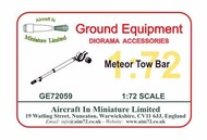 AIM - Ground Equipment  1/72 Gloster Meteor Tow Bar GE72059