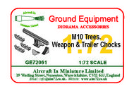 AIM - Ground Equipment  1/72 M10 trees, weapons & wheels chock accessory set. go to the Aircraft In Miniature web page. http://www.aim72.co.uk/page156.html GE72061