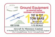 Boeing 707 & 727 Tow Bar (two pack) #GE72080