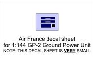 AIM - Ground Equipment Decals  1/144 Air France decal sheet for 1:144 Auto Diesel GP-2 Ground Power Unit.  http://www.aim72.co.uk/page117.html GED144021B