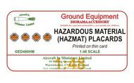 AIM - Ground Equipment Decals  1/48 Hazardous Materials (HAZMAT) Placards. http://www.aim72.co.uk/page146.html GED480HM