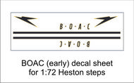 AIM - Ground Equipment Decals  1/72 BOAC (early) decal sheet for 1:72 Heston steps.  http://www.aim72.co.uk/page96.html GED72010A
