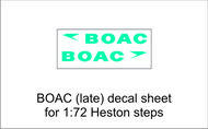 AIM - Ground Equipment Decals  1/72 BOAC (late) decal sheet for 1:72 Heston steps. . TEMPORARILY SAVE 1/3RD!!! Http://www.aim72.co.uk/page96.html GED72010B