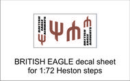 AIM - Ground Equipment Decals  1/72 British Eagle decal sheet for 1:72 Heston steps. http://www.aim72.co.uk/page96.html GED72010E
