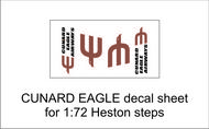 AIM - Ground Equipment Decals  1/72 Cunard Eagle) decal sheet for 1:72 Heston steps. . TEMPORARILY SAVE 1/3RD!!! Http://www.aim72.co.uk/page96.html GED72010F