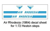 AIM - Ground Equipment Decals  1/72 Air Rhodesia (1964) decal sheet -1:72 Heston steps. GED72010H