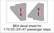 AIM - Ground Equipment Decals  1/72 BEA decal sheet-1:72 Douglas DC-3 pax steps. GED72040A