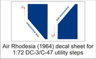 AIM - Ground Equipment Decals  1/72 Air Rhodesia-68 decal sheet-1:72 Douglas DC-3 utility steps GED72041C