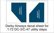 AIM - Ground Equipment Decals  1/72 Derby Airways decal sheet-1:72 Douglas DC-3 utility steps GED72041E