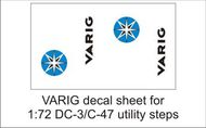 AIM - Ground Equipment Decals  1/72 VARIG decal sheet-1:72 Douglas DC-3/C-47 utility steps GED72041H