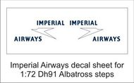 AIM - Ground Equipment Decals  1/72 Imperial decal sheet-1:72 Albatross steps GED72042