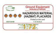 AIM - Ground Equipment Decals  1/72 Hazardous materials (HAZMAT) Placards. http://www.aim72.co.uk/page146.html GED720HM