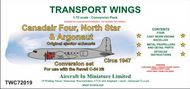AIM - Transport Wings  1/72 Canadair C-4 North Star & Argonaut engines (Original ejector exhausts) conversion pack TWC72019