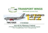 AIM - Transport Wings  1/72 CF6-80C G¦( resin engines for A310 TWC72025