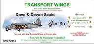 AIM - Transport Wings  1/72 de Havilland DH-104 Dove & Devon seats - (designed to be used with the A Model Dove & Devon kits) TWC72041