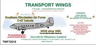 AIM - Transport Wings  1/72 Southern Rhodesian Air Force C-47 Dakota (Circa 1953) decal set TWF72018