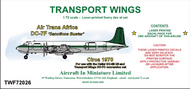 AIM - Transport Wings  1/72 Air Trans Africa Douglas DC-7F Sanctions Buster (circa 1970) TWF72026