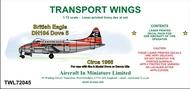 AIM - Transport Wings  1/72 British Eagle DH104 Dove 5, circa 1966 decal, set TWL72045