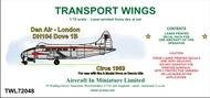 AIM - Transport Wings  1/72 Dan Air - London DH104 Dove 1B, circa 1963, decal set TWL72048