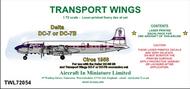 AIM - Transport Wings  1/72 Delta Douglas DC-7 or Douglas Douglas DC-7B (circa 1958) - Pre-Order Item TWL72054