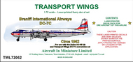 AIM - Transport Wings  1/72 Braniff International Airways Douglas DC-7C (circa 1962) - Pre-Order Item TWL72062