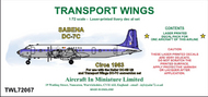 AIM - Transport Wings  1/72 SABENA Douglas DC-7C (circa 1963) - Pre-Order Item TWL72067