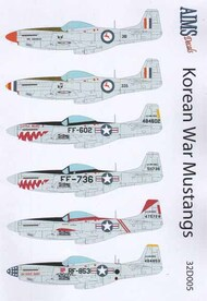 Aims  1/32 Korean War North-American F-51 Mustangs AIMS32D005