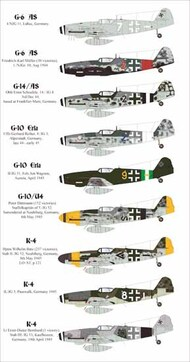 Aims  1/32 'Late war Messerschmitt Bf.109's AIMS32D015