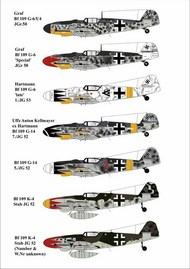 AIMS  1/32 Messerschmitt Bf.109G-6/G-14/K-4 Decals AIMS32D016