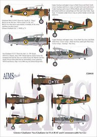Gloster Gladiator Mk.I/Sea Gladiator decals #AIMS32D018