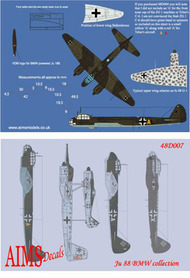 Aims  1/48 Junkers Ju.88 BMW engined versions collection (14) AIMS48D007