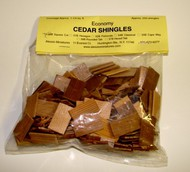 ALESSIO   Cedar Square Dollhouse Wood Shingles (250pc) ALE50