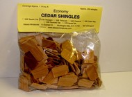 ALESSIO   Cedar Hexagon Dollhouse Wood Shingles (250pc) ALE51