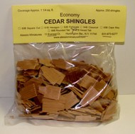 ALESSIO   Cedar Hexagon Tab Dollhouse Wood Shingles (250pc) ALE57