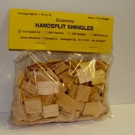 ALESSIO   Handsplit Square Dollhouse Wood Shingles (315pc) ALE61