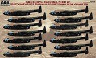 AOA Decals  1/144 USAF/VNAF Fairchild AC-119G Shadows & AC-119K Stingers in the Vietnam War. AOA14401