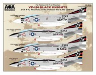 USN F-4J Phantoms in the Vietnam War & Cold War - VF-154 Black Knights #AOA32030