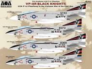 VF-154 Black Knights USN McDonnell F-4J Phantoms in the Vietnam War & the Cold War. #AOA48015