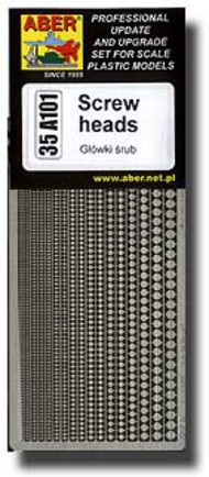 Aber Accessories  1/35 Screws Heads - Various Sizes ABR35A101