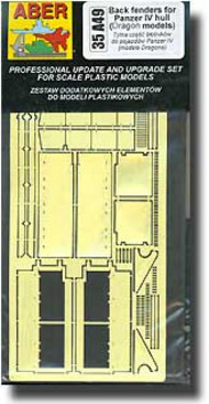 Aber Accessories  1/35 Back Fenders for Pz.Kpfw.IV Hull ABR35A049