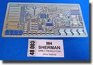 Aber Accessories  1/48 M4 Sherman- Early Production ABR48003