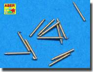 Aber Accessories  1/700 Set of 9 pcs 406 mm short barrels for ships: North Carolina, Washington ABR700L12